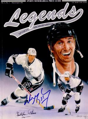 Wayne Gretzky autographed Los Angeles Kings Legends magazine