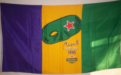 Collectible Madri Gras Heineken flag