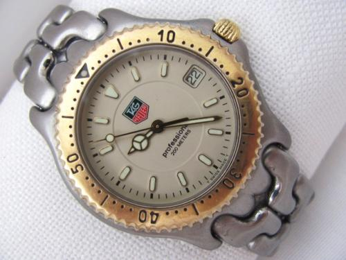 Authentic TAG HEUER SEL GOLDPLATED FULLSIZE MODEL WG 1130-KO