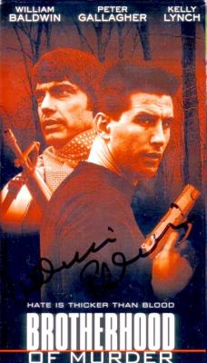 William Baldwin autographed Brotherhood of Murder VHS video