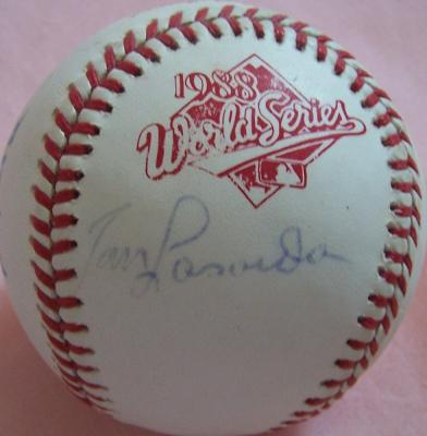Tommy Lasorda & Tony La Russa autographed 1988 World Series baseball