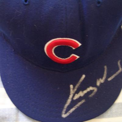 Kerry Wood autographed Chicago Cubs game model cap