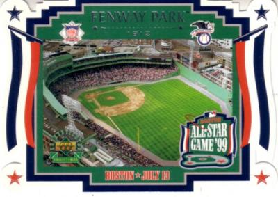 1999 MLB All-Star Game Fenway Park Upper Deck jumbo card #346/9900