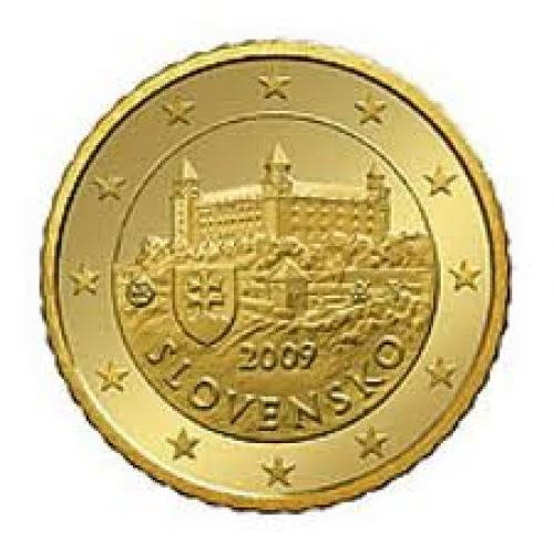Coins;Euro Cent 50 Slovakia