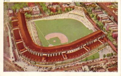 Chicago Cubs Wrigley Field early 1940s postcard