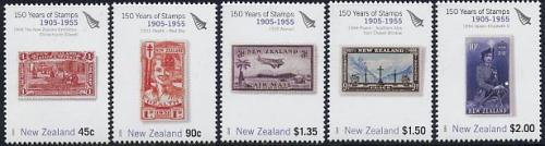 150 Years stamps 5v (1905-1955 period)