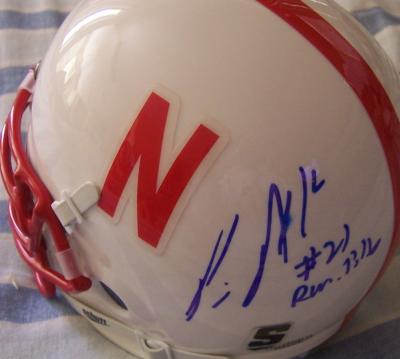 Prince Amukamara autographed Nebraska mini helmet