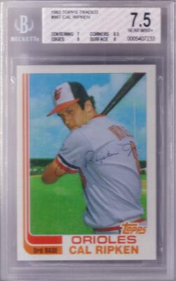 Cal Ripken 1982 Topps Traded graded BGS 7.5 Near Mint++