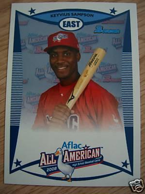 Keyvius Sampson 2008 AFLAC Bowman Rookie Card