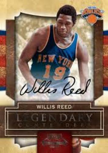 Basketball Card; Willis Reed; New York 2009-10 Playoff Contenders Basketball Card