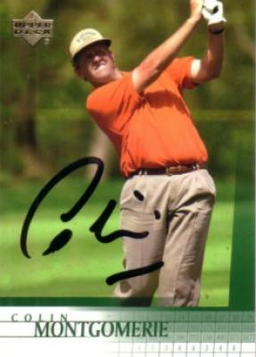 Colin Montgomerie autographed 2001 Upper Deck golf card