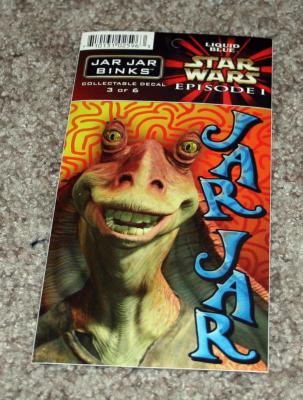 Jar Jar Binks Star Wars Episode 1 decal or sticker