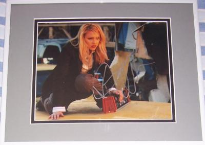 Jessica Alba autographed 8x10 Fantastic 4 photo matted & framed