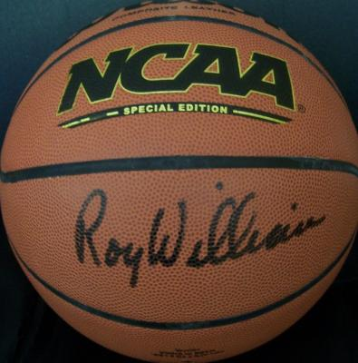 Roy Williams autographed Wilson NCAA basketball