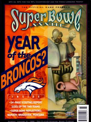 Denver Broncos Super Bowl 33 (XXXIII) game program