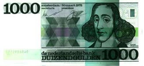 Dutch Banknotes. 1000 Guilder Note (Front)