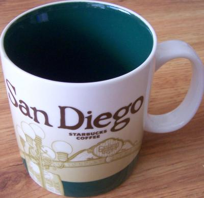2009 Starbucks huge San Diego collector series 16 ounce coffee mug NEW
