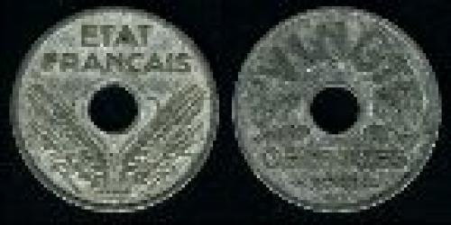 20 centimes; Year: 1941; (km 899)