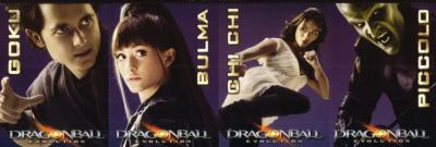 Dragonball Evolution 2009 movie 4 promo card set