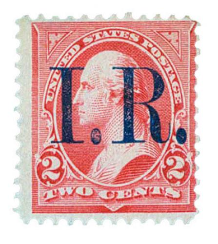 pink, type IV, blue overprint