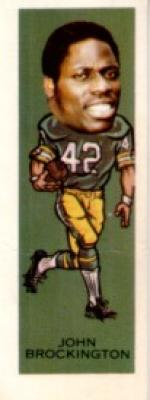 John Brockington Packers 1974 Nabisco Sugar Daddy card #8