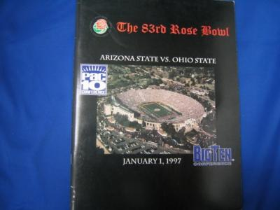 1997 Rose Bowl Arizona State vs. Ohio State Media Guide (Orlando Pace Jake Plummer Pat Tillman)