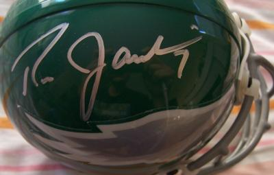 Ron Jaworski autographed Philadelphia Eagles throwback mini helmet