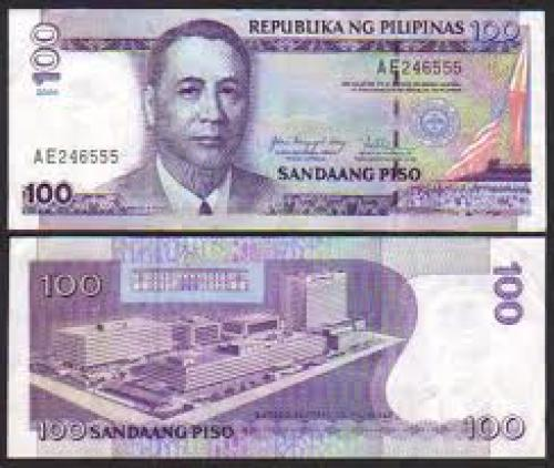 Philippine 100 PISO New Design Series w/ type 5 BSP seal (1997 – 2001)