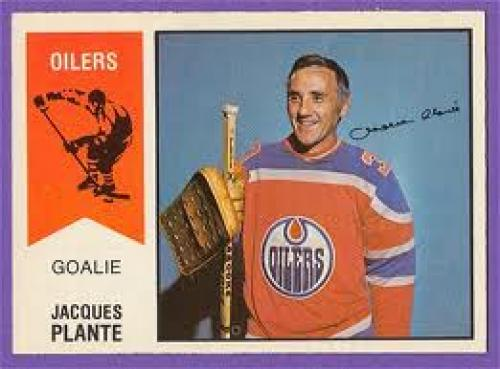1974-75 OPC WHA Hockey Cards; jacques plante