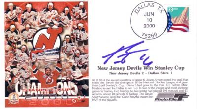 Patrik Elias autographed New Jersey Devils 2000 Stanley Cup Champs cachet envelope