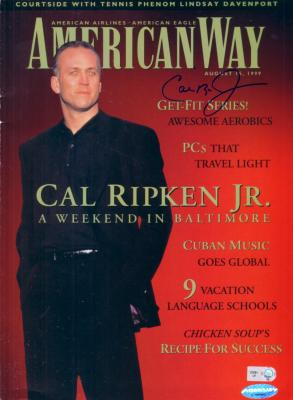 Cal Ripken autographed 1999 American Way magazine
