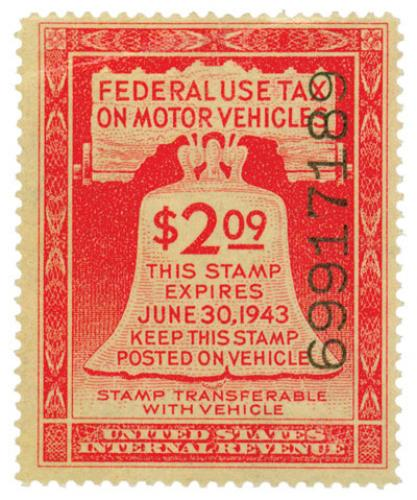 ros red, motor vehicle stamp