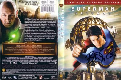 Brandon Routh autographed Superman Returns DVD insert