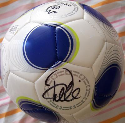 Pele autographed Adidas mini soccer ball