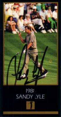 Sandy Lyle autographed 1988 Masters Champion golf card