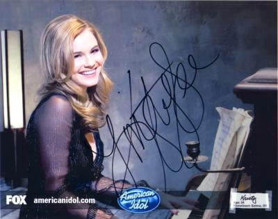 Kristy Lee Cook autographed 2008 American Idol 8x10 photo