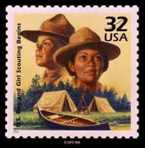 Stamps; 50 Years of Scouts on US Stamps; 32 cents