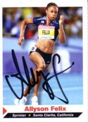 Allyson Felix autographed Sports Illustrated for Kids card