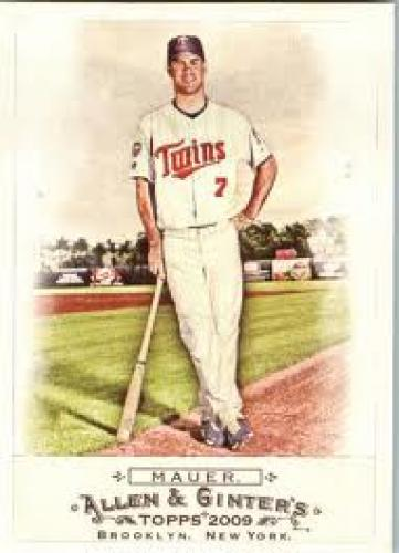 Baseball Card; 2009 Topps Allen and Ginter Mini #92 Joe Mauer