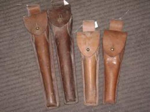 Militaria; Belgium Military Leather Instrument Pouches