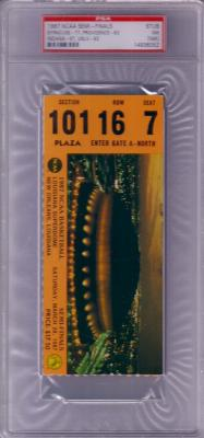 1987 NCAA Final Four Semifinals ticket stub PSA 7 (Indiana & Syracuse win)