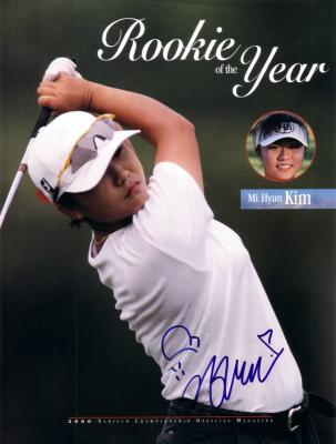 Mi Hyun Kim autographed full page LPGA magazine photo