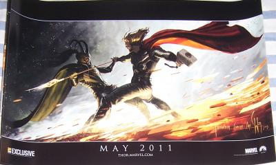 Thor movie 2010 Comic-Con EXCLUSIVE Marvel promo poster