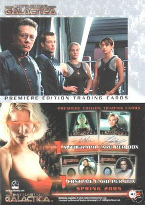 Battlestar Galactica Premiere Edition 2005 Rittenhouse promo card P1