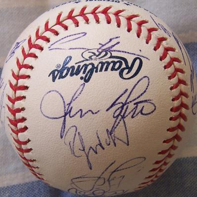 2009 Los Angeles Dodgers team autographed baseball Andre Ethier Matt Kemp Clayton Kershaw