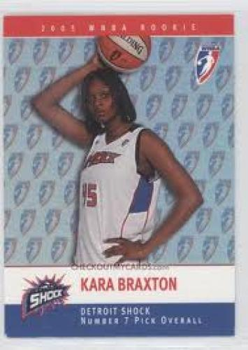 Basketball Card; Kara Braxton; 2005 WNBA Basketball Cards -