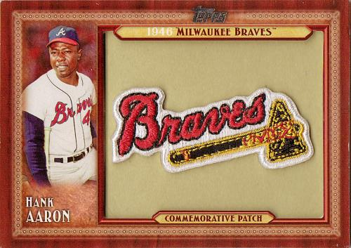 2011 Topps Commemorative Patch #HA ~ Hank Aaron S2