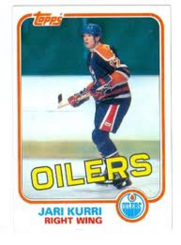 Jari Kurri hockey card 1981 Topps #18