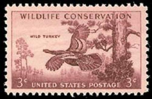 Stamps; 1956 USA Wildlife Conservation Stamps (Scott 1077)
