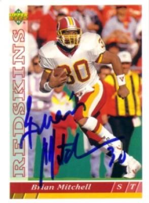 Brian Mitchell autographed Washington Redskins 1993 Upper Deck card